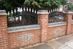 Curve-top Railings with decorations