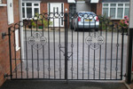 Wrought Iron Style Double Gates