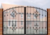Double Gate with Curve Top, Railheads, Baskets & Panel