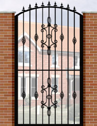 Side Gate with Curve Top, Railheads, Baskets & Panel