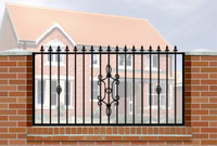 Wall Railing Flat Top, Railheads, Baskets & Panel