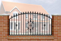 Wall Railing Curve Top, Railheads, Baskets & Panel