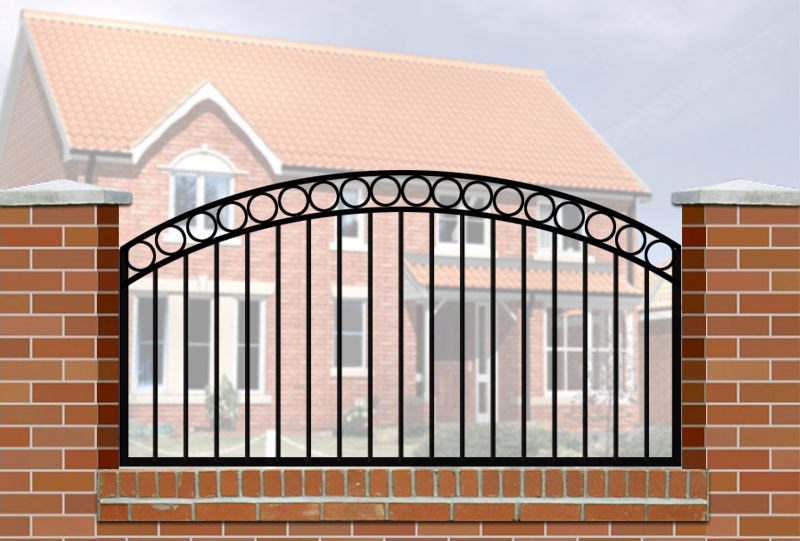 Wall Railings Designs irons Wall Railing Curve Top Circle Header