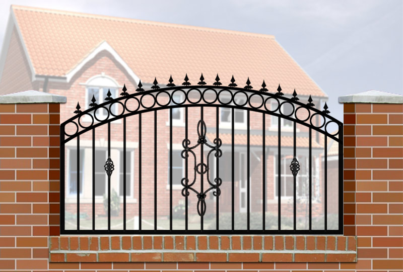 Railings Wrought Iron Style For Wall Mounting Gates Railing And